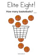 Elite Eight Coloring Page