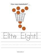 Elite Eight Handwriting Sheet