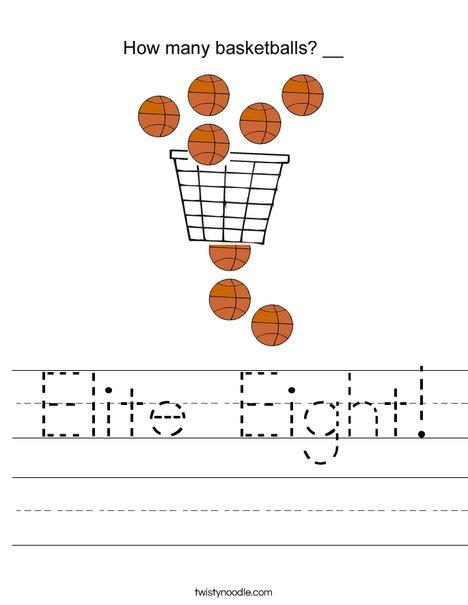 Elite Eight! Worksheet