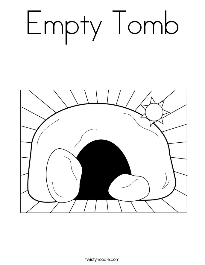 Jesus Coming Out Of The Tomb Coloring Page Empty tomb coloring page.