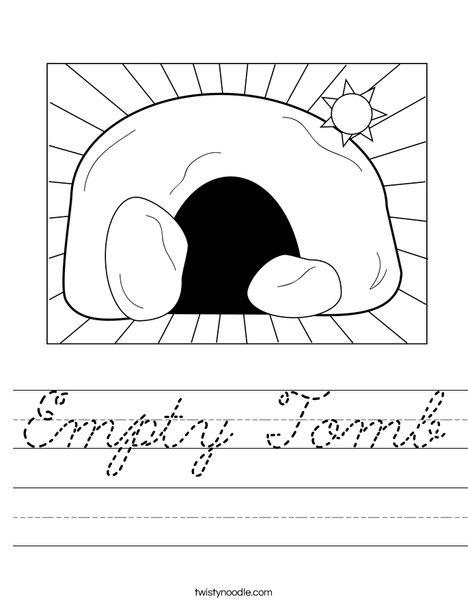 Empty Tomb Worksheet
