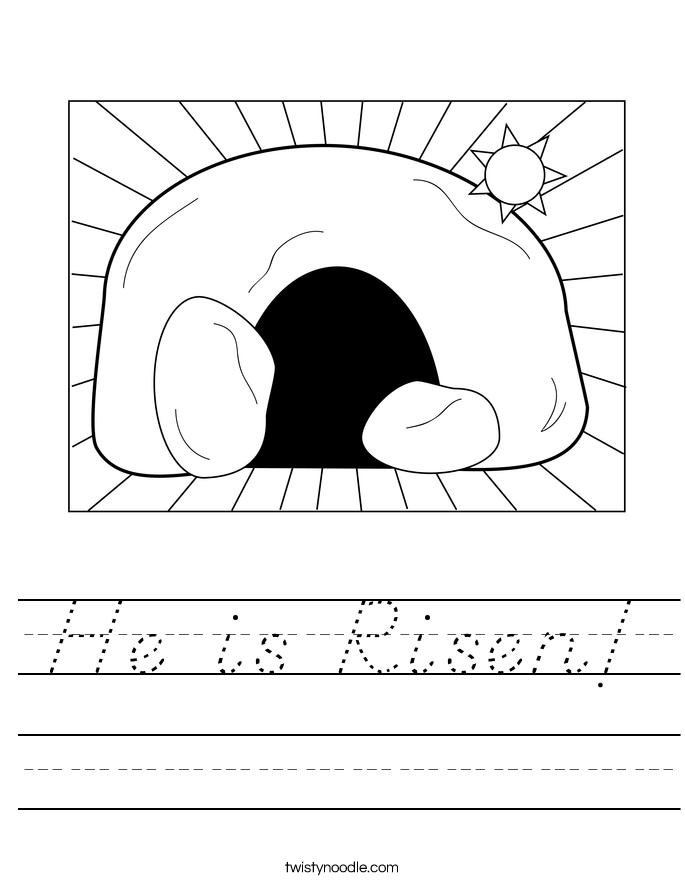 He is Risen! Worksheet