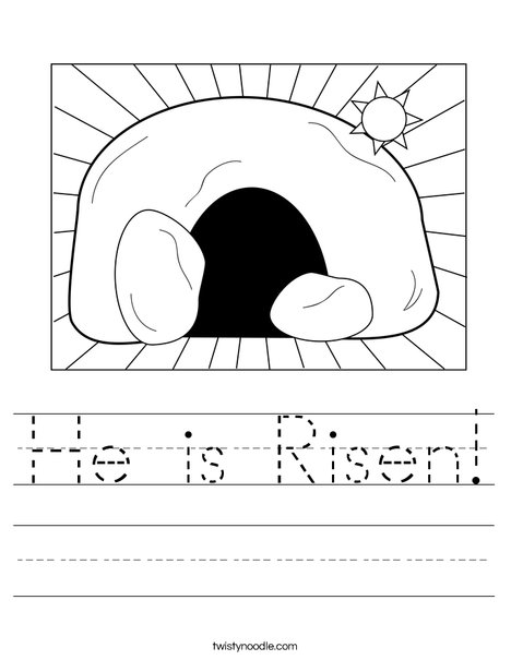 Empty Tomb Worksheet