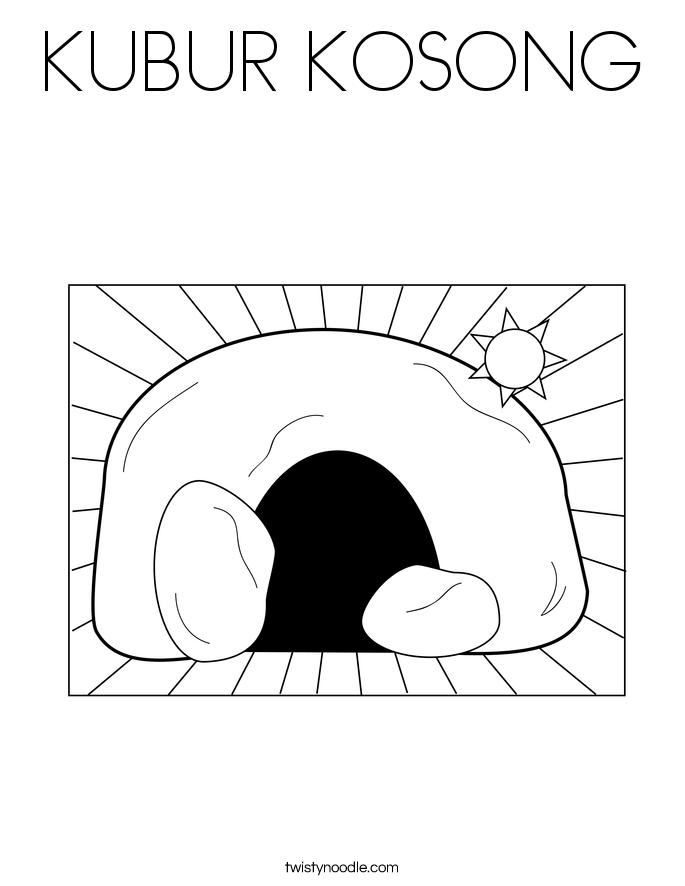 KUBUR KOSONG Coloring Page