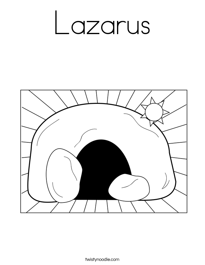 lazarus printable coloring pages - photo#19
