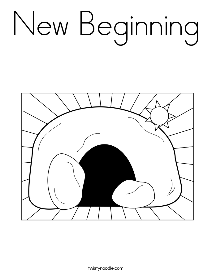 New Beginning Coloring Page