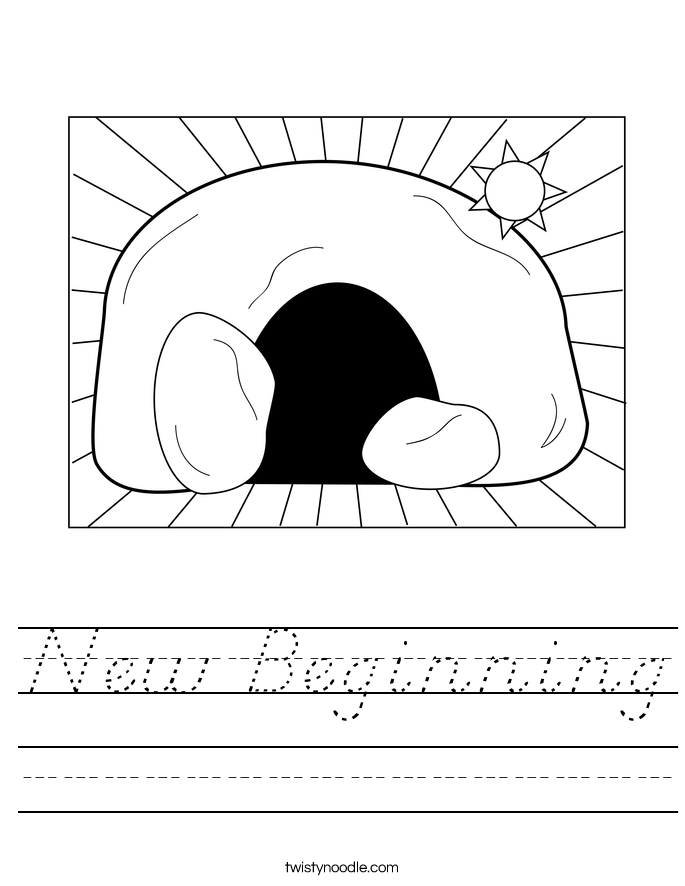 New Beginning Worksheet