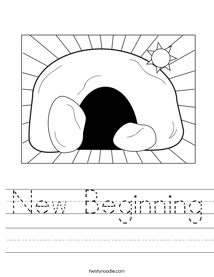 New Beginning Worksheet
