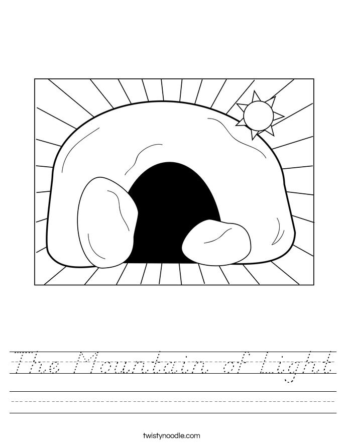 The Mountain of Light Worksheet
