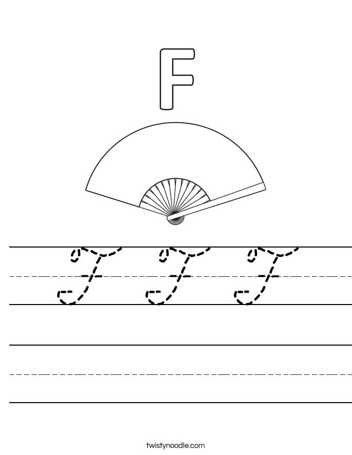 F F F Worksheet