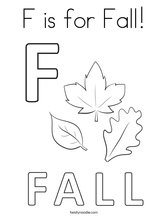 F is for Fall! Coloring Page