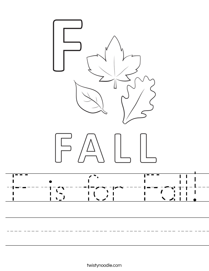 F is for Fall! Worksheet