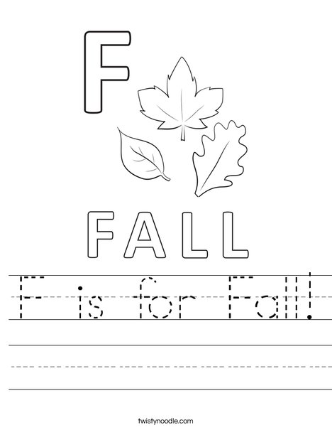F is for Fall Worksheet