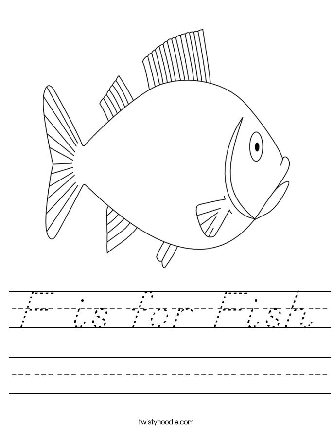 F Is For Fish Worksheet F is for Fish Workshee...