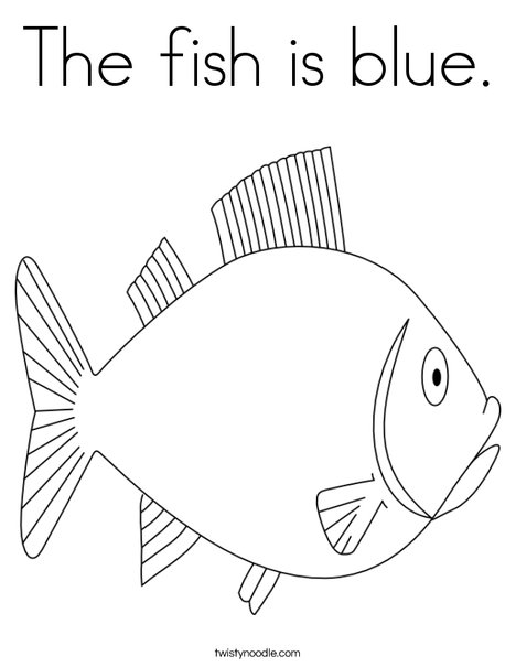 The fish is blue coloring page twisty noodle for Fish coloring pages for preschool