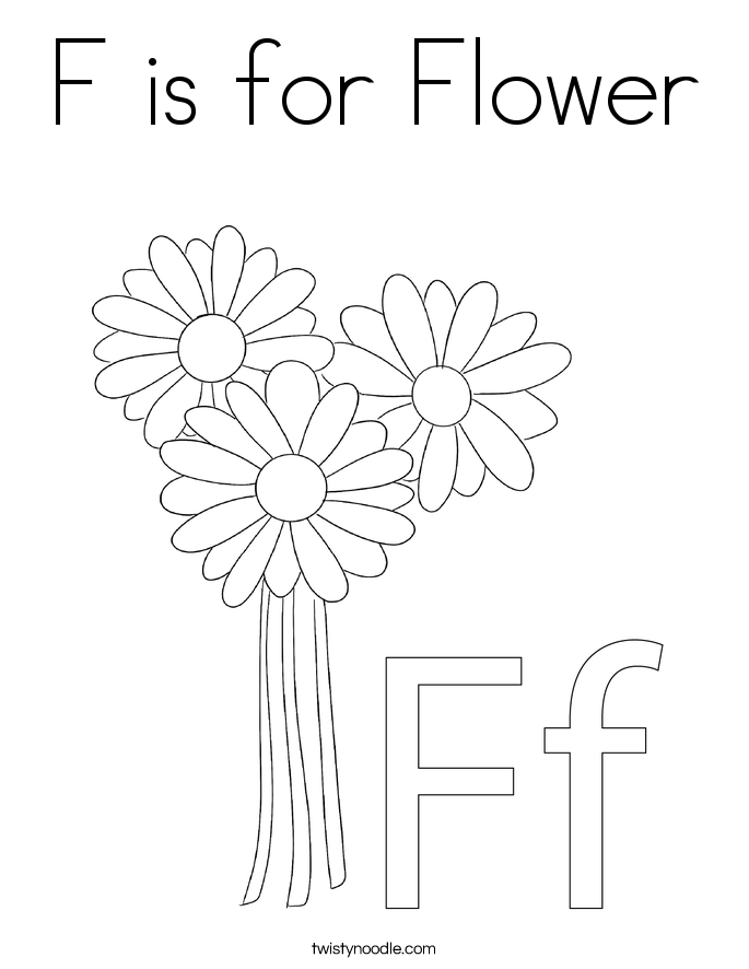 f coloring pages - photo #30