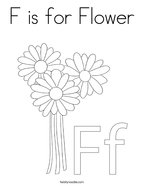 F is for Flower Coloring Page