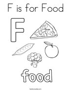 F is for Food Coloring Page