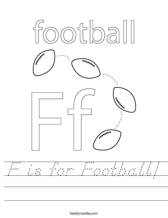 F is for Football! Worksheet