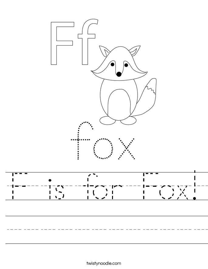 F is for Fox! Worksheet