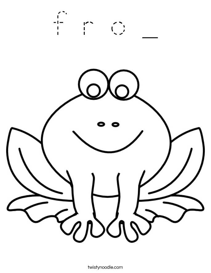 f r o _ Coloring Page