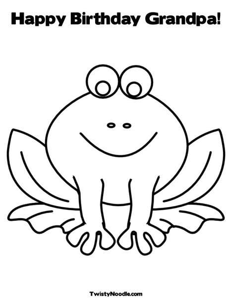 happy birthday grandpa coloring pages - photo #13