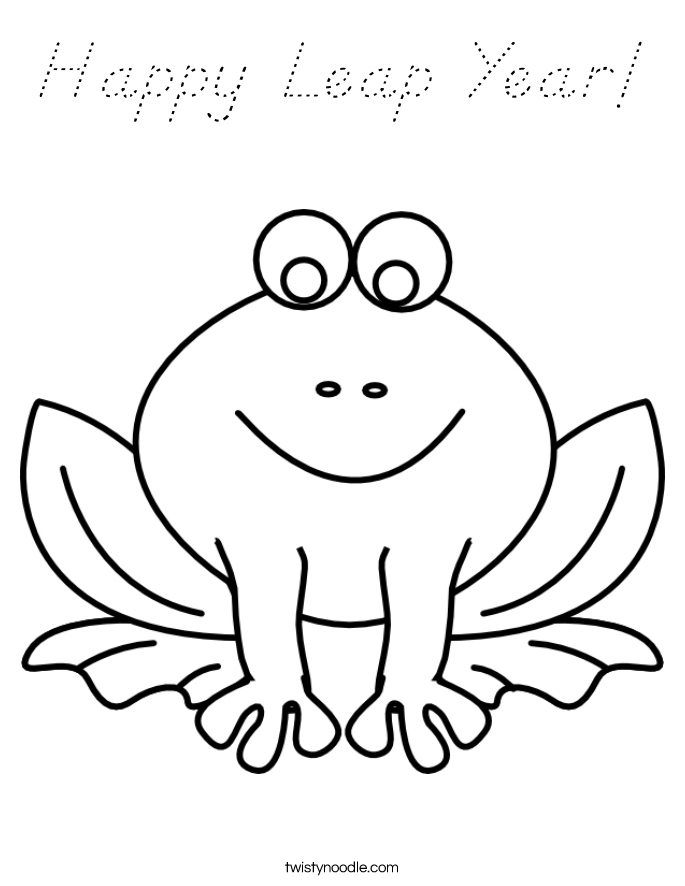 Happy Leap Year! Coloring Page