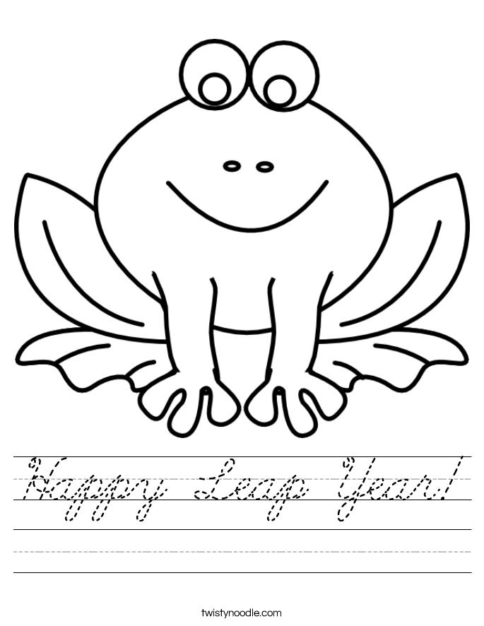 Happy Leap Year! Worksheet