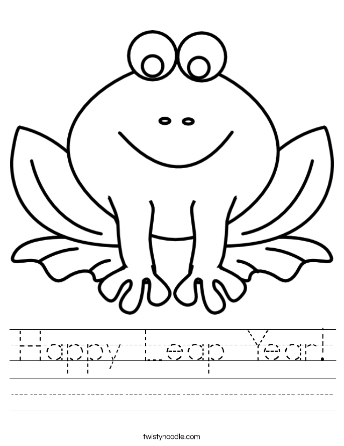 Leap Year 2016 Worksheet - Twisty Noodle