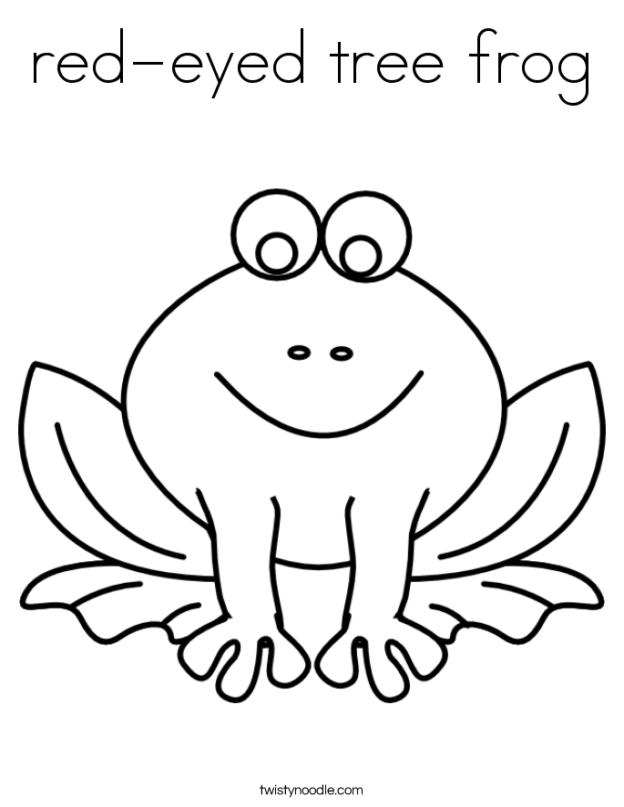 redeyed tree frog Coloring Page Twisty Noodle