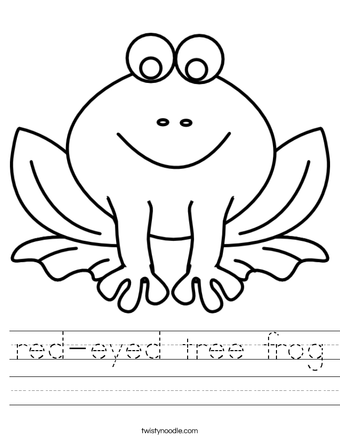 red-eyed tree frog Worksheet