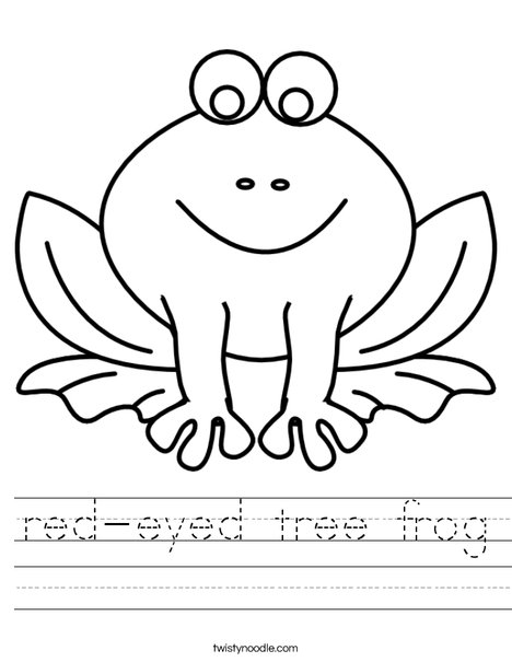 F is for Frog Worksheet