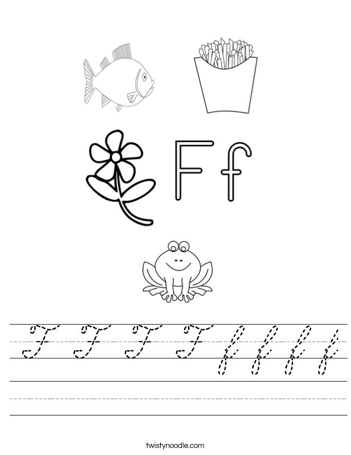 F F F F f f f f Worksheet