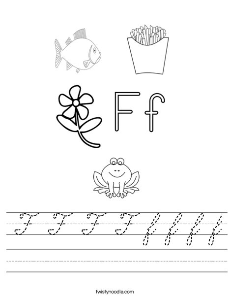 F is for Worksheet
