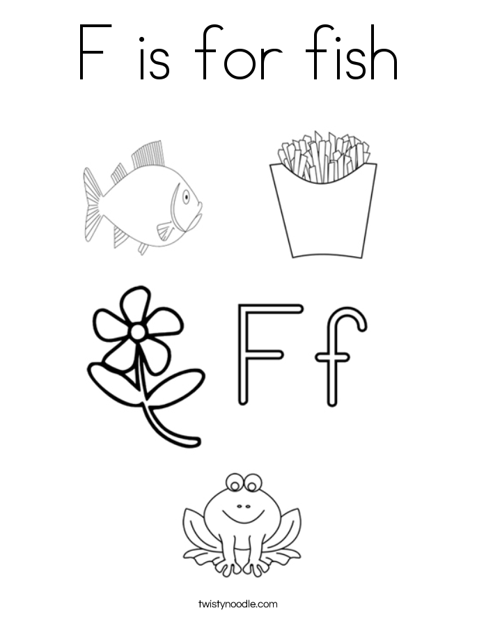 f for fish coloring pages - photo #18