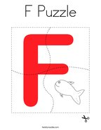 F Puzzle Coloring Page