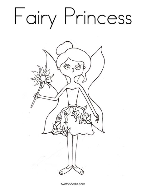 fairy by melissa coloring page - Fairy Princess Coloring Pages
