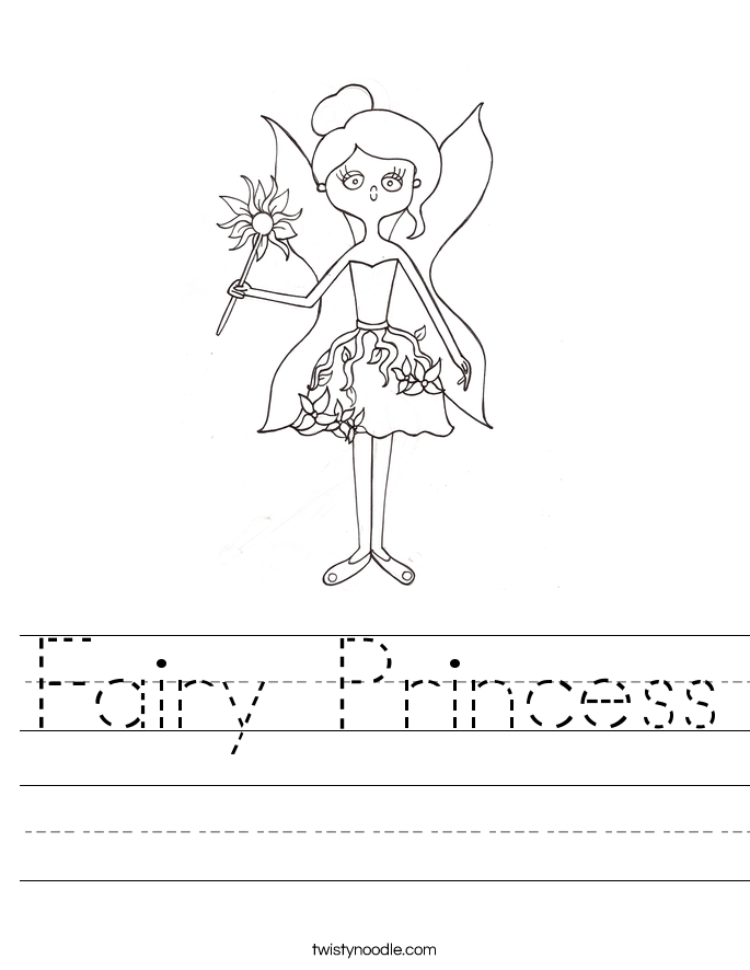 Fairy Princess Worksheet