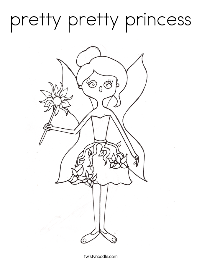 pretty pretty princess Coloring Page