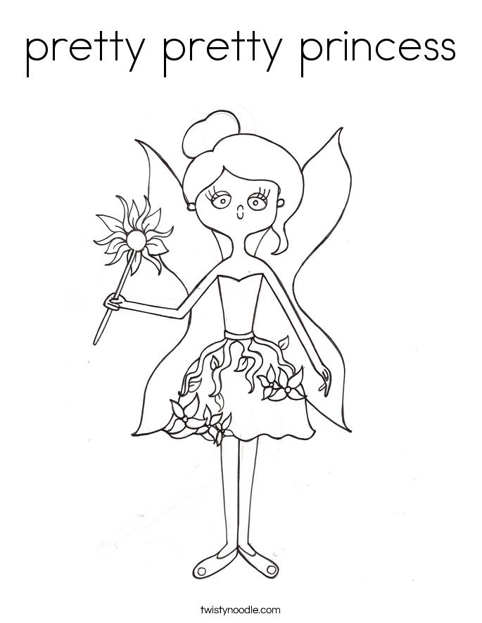 pretty pretty princess Coloring Page