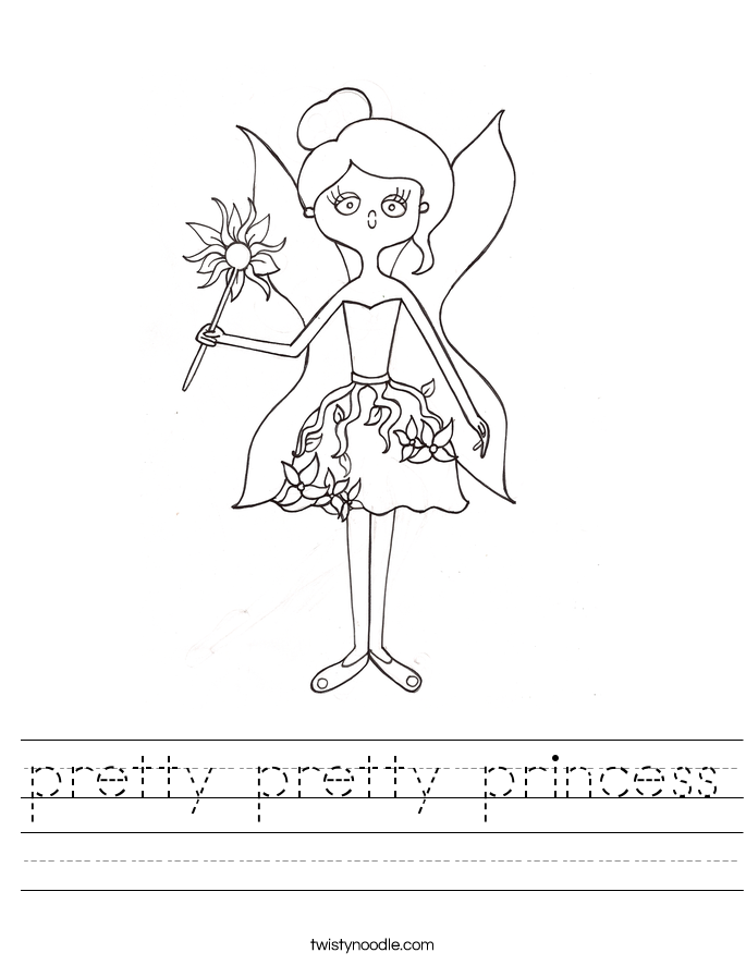 pretty pretty princess Worksheet