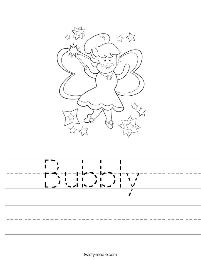 Bubbly  Worksheet