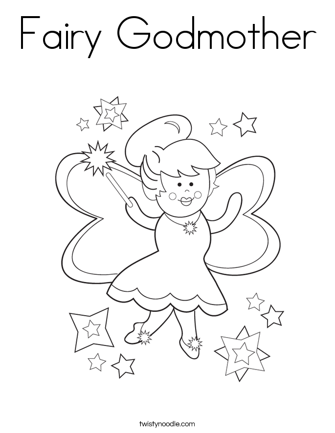 Fairy Godmother Coloring Page