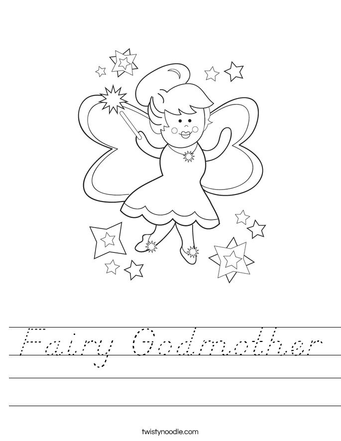 Fairy Godmother Worksheet