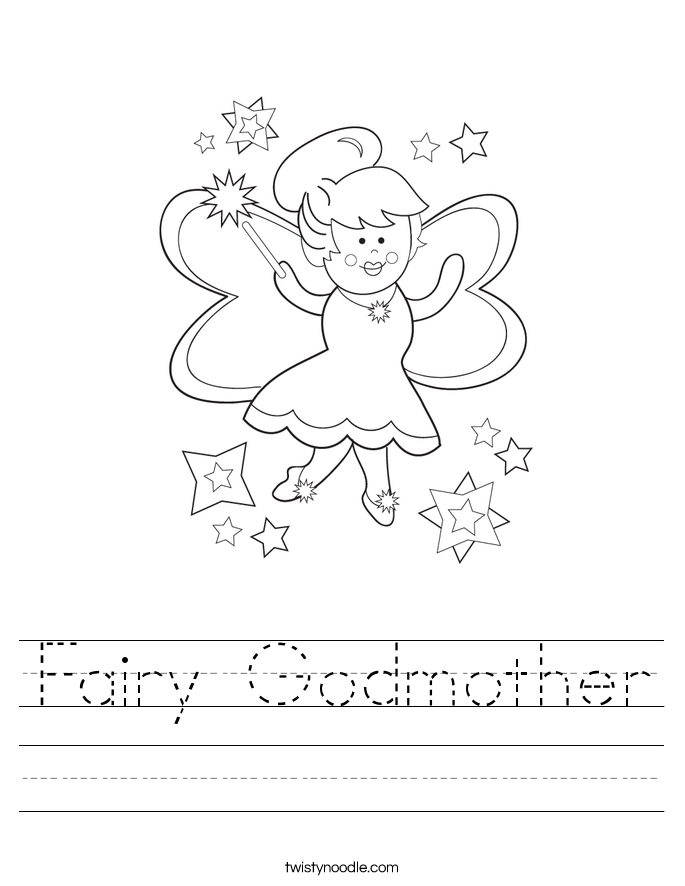 Fairy Godmother Worksheet