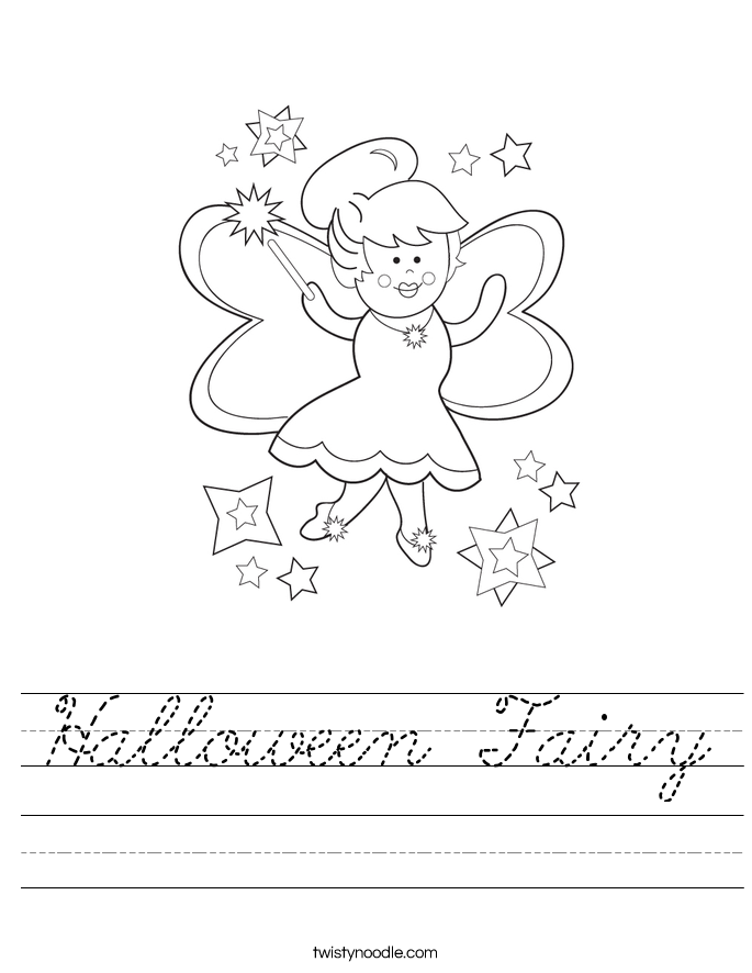 Halloween Fairy Worksheet
