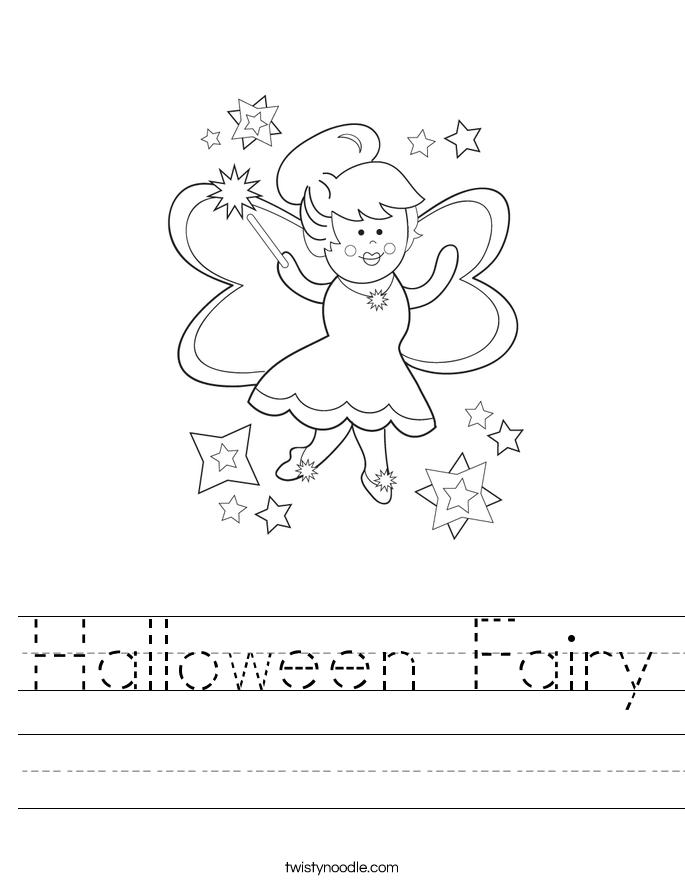 Halloween Fairy Worksheet
