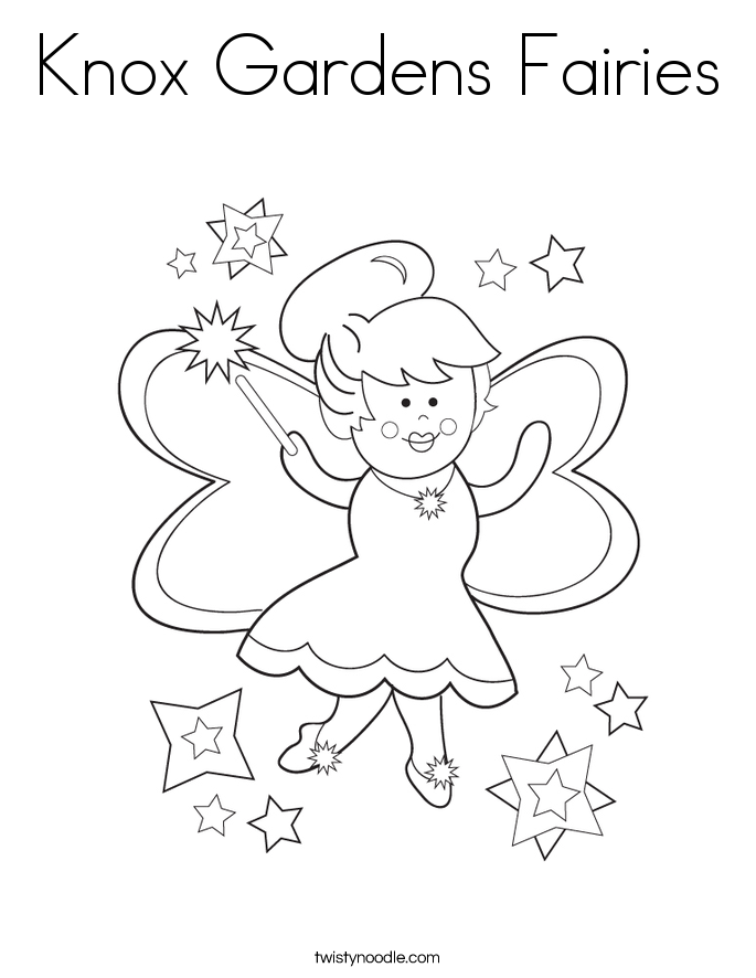 Knox Gardens Fairies Coloring Page