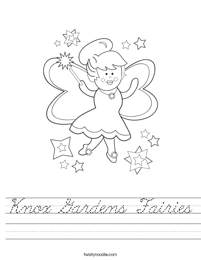Knox Gardens Fairies Worksheet