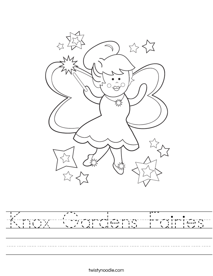 Knox Gardens Fairies Worksheet